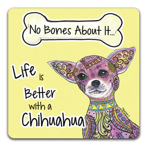MM1-1200-Life-is-Better-With-a-Chihuahua-Bones-Dog-Rubber-Tabletop-Car-Coaster-by-Mellissa-Meeks-and-CJ-Bella-Co