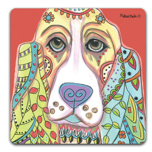 MM1-130-Face-Bassett-Hound-Rubber-Tabletop-Car-Coaster-by-Mellissa-Meeks-and-CJ-Bella-Co