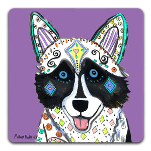 MM1-188-Face-Husky-Rubber-Tabletop-Car-Coaster-by-Mellissa-Meeks-and-CJ-Bella-Co