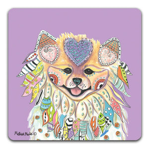MM1-208-Face-Pomeranian-Rubber-Tabletop-Car-Coaster-by-Mellissa-Meeks-and-CJ-Bella-Co