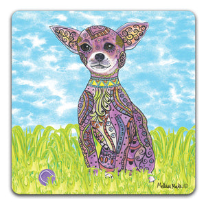 MM1-356-Chihuahua-with-ball-in-grass-Rubber-Tabletop-Car-Coaster-by-Mellissa-Meeks-and-CJ-Bella-Co
