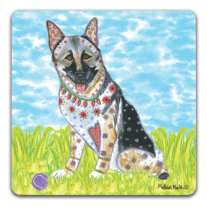 MM1-389-German-Shepherd-in-grass-with-ball-Rubber-Tabletop-Car-Coaster-by-Mellissa-Meeks-and-CJ-Bella-Co