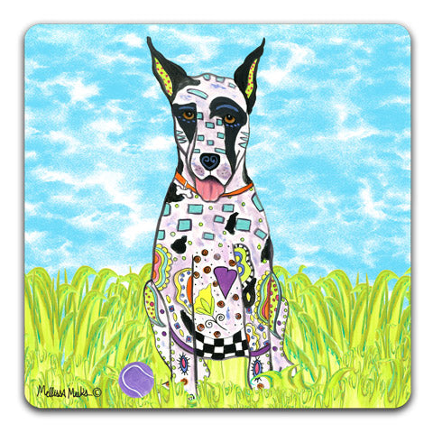 """Great Dane at the Park"" Drink Coasters by Mellissa Meeks"