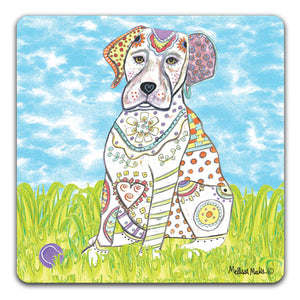 MM1-415-Labrador-in-grass-with-ball-Rubber-Tabletop-Car-Coaster-by-Mellissa-Meeks-and-CJ-Bella-Co