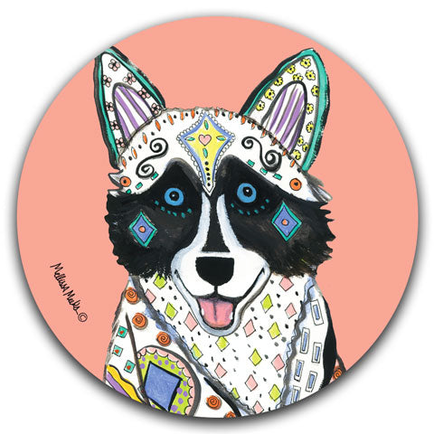 """Husky Full Face"" Car Coaster by Mellissa Meeks"