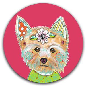 MM2-232-Dog-Face-Yorkie-Yorkshirt-Terrier-Cute-Car-Coaster-Melissa-Meeks-and-CJ-Bella-Co