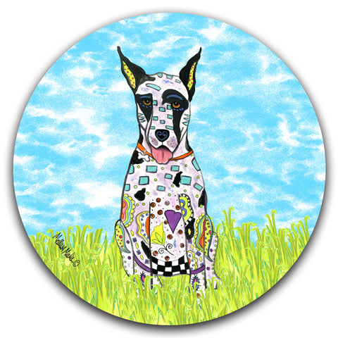 """Great Dane at the Park"" Car Coaster by Mellissa Meeks"