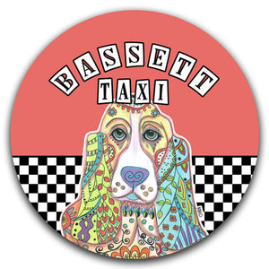 MM2-670-Bassett-Hound-Taxi-Car-Coaster-Melissa-Meeks-and-CJ-Bella-Co