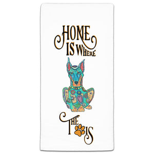 MM3-1040-Home is where-Dog-Paw-Doberman-Towel-Melissa-Meeks-and-CJ-Bella-Co