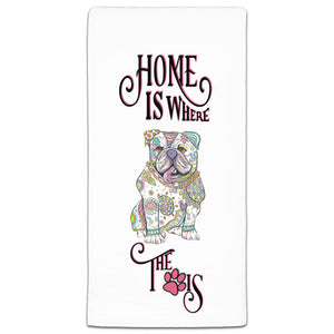 MM3-1042-Home is where-Dog-Paw-Bulldog-Towel-Melissa-Meeks-and-CJ-Bella-Co