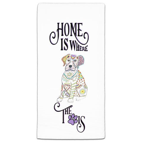 """Labrador Retriever Home is Where the Paw Is"" Flour Sack Towel by Mellissa Meeks"