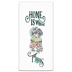 MM3-1077-Home-is where Dog-Paw-Maltese-Towel-Melissa-Meeks-and-CJ-Bella-Co