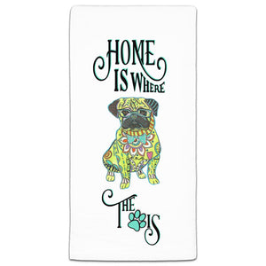 MM3-1093-Home-is where Dog-Paw-Pug-Towel-Melissa-Meeks-and-CJ-Bella-Co