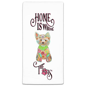 MM3-1109-Home-is where Dog-Paw-Yorkie-Yorkshire-Terrier-Towel-Melissa-Meeks-and-CJ-Bella-Co