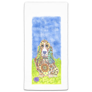 MM3-227-Basset-Hound-at the Park Towel-Melissa-Meeks-and-CJ-Bella-Co