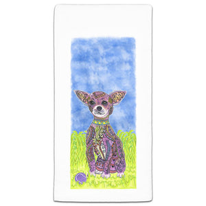 MM3-237-Chihuahua at the Park flour sack-Towel-Melissa-Meeks-and-CJ-Bella-Co
