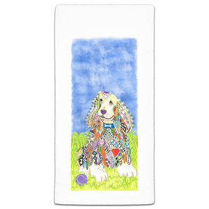 MM3-239-Cocker-Spaniel In the park flour sack Towel-Melissa-Meeks-and-CJ-Bella-Co