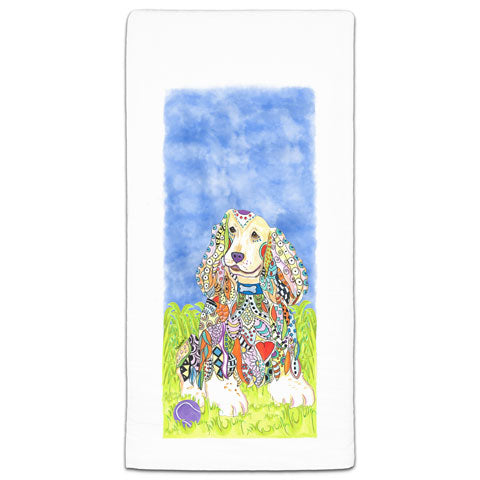 """Cocker Spaniel at the Park"" Flour Sack Towel by Mellissa Meeks"