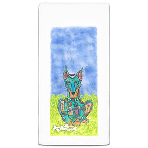 MM3-256-Doberman at the park flour sack-Towel-Melissa-Meeks-and-CJ-Bella-Co