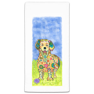 MM3-269-Golden Retriever at the park flour sack-Towel-Melissa-Meeks-and-CJ-Bella-Co