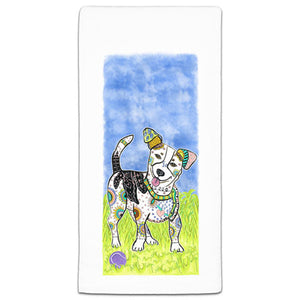 MM3-285-Jack-Russell-Terrier-at the park flour sack Towel-Melissa-Meeks-and-CJ-Bella-Co