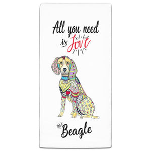MM3-717-All You Need is Love and a-Beagle-Towels-Melissa-Meeks-and-CJ-Bella-Co