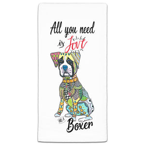 MM3-722-All You Need is Love and a -Boxer-Dog-Towels-Melissa-Meeks-and-CJ-Bella-Co