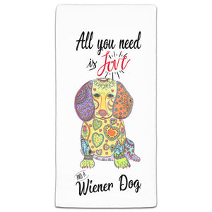 MM3-738-All You Need is Love and a-Wiener-Dog-Dachshund-Towels-Melissa-Meeks-and-CJ-Bella-Co