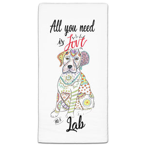MM3-775-All You Need is Love and a-Labrador-Lab-Dog-Towel-Melissa-Meeks-and-CJ-Bella-Co