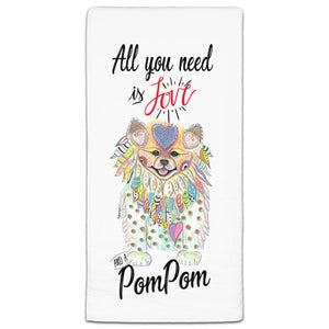 MM3-784-All You Need is Love and a Pom-Pom-Dog-Towel-Melissa-Meeks-and-CJ-Bella-Co