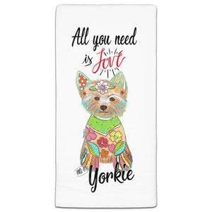 MM3-806-All You Need is Love-and a Yorkie-Dog-Towel-Melissa-Meeks-and-CJ-Bella-Co