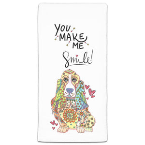 MM3-915-Make-Me-Smile-Bassett-Hound-Towel-Melissa-Meeks-and-CJ-Bella-Co