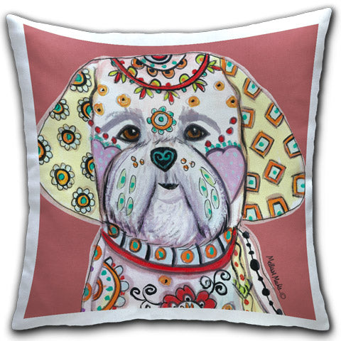 """Shih Tzu"" Pillow by Mellissa Meeks"