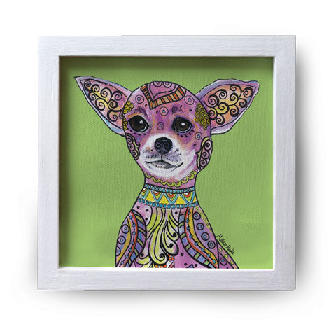 """Chihuahua"" Canvas Box Sign by Mellissa Meeks"