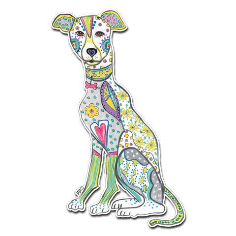 """Greyhound"" Vinyl Decal by Mellissa Meeks"
