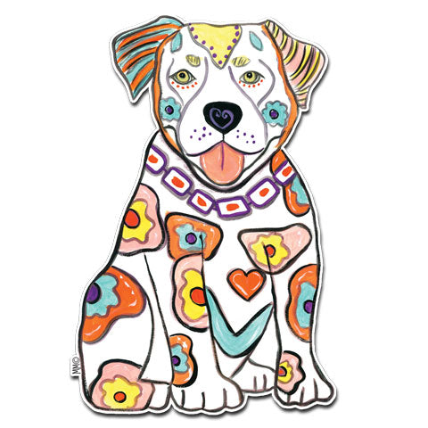 """Pit Bull"" Vinyl Decal by Mellissa Meeks"