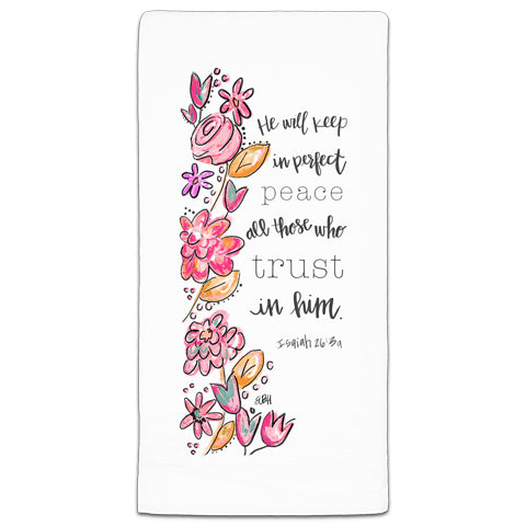 """He Will Keep"" Flour Sack Towel by Elizabeth Hilliard"