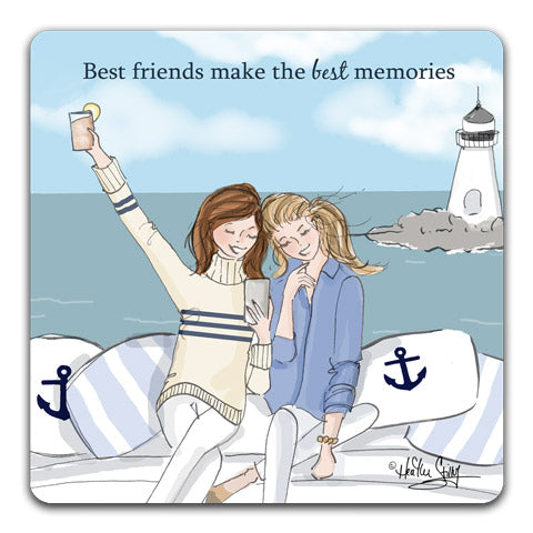 """Best Friends Make"" Drink Coaster by Heather Stillufsen"