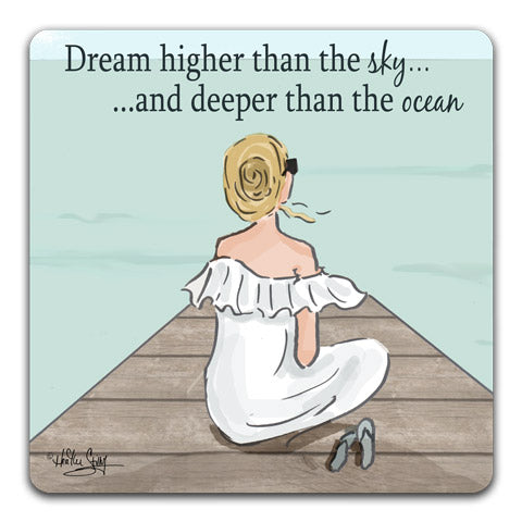 """Dream Higher Than the Sky"" Drink Coaster by Heather Stillufsen"
