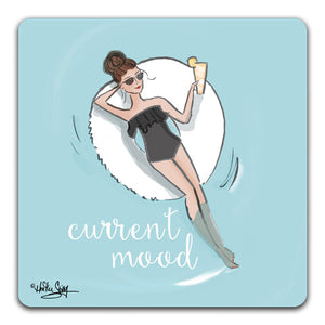 RH1-108 Current Mood Drink Coaster by Rose Hill Design Studio and CJ Bella Co