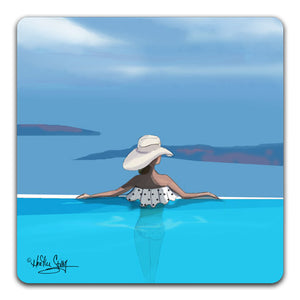 RH1-120-Woman-in-an-infinity-pool-looking-at-the-sea-Tabletop-Coaster-by-CJ-Bella-Co-and-Rose-Hill-Design-Studio