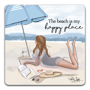"""The Beach Is"" Drink Coaster by Heather Stillufsen"