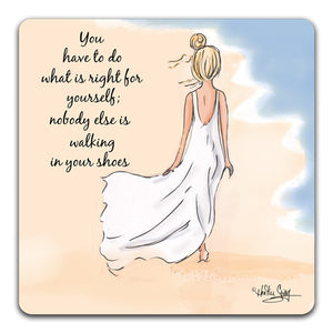 RH1-124-Girl-in-white-dress-alking-on-a-beach-Tabletop-Coaster-by-CJ-Bella-Co-and-Rose-Hill-Designs