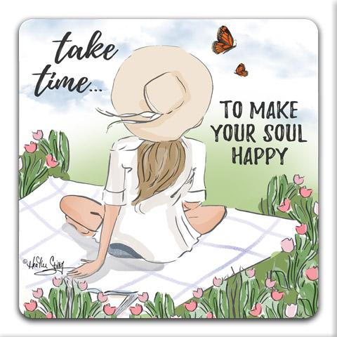 """Take Time"" Drink Coasters by Heather Stillufsen"