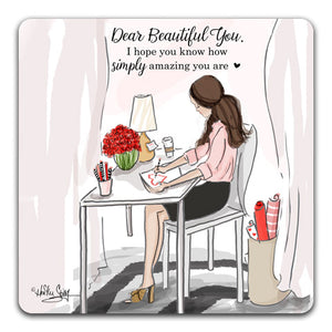 RH1-164 Dear Beautiful You Tabletop-Coaster-by-CJ-Bella-Co-and-Rose-Hill-Design-Studio