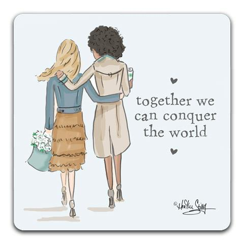 """Together We Can"" Drink Coasters by Heather Stillufsen"