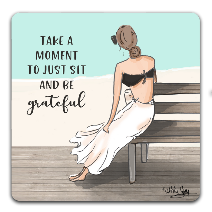 """Take A Moment"" Drink Coasters by Heather Stillufsen"