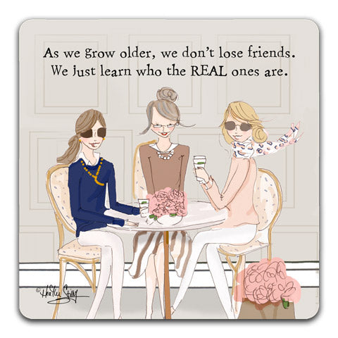 """As We Grow Older"" Drink Coasters by Heather Stillufsen"