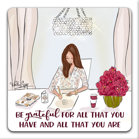 """Be Grateful For All"" Drink Coasters by Heather Stillufsen"