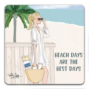 """Beach Days"" Drink Coaster by Heather Stillufsen"